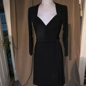 Norma Kamali NEW Black Wrap Sweetheart dress L